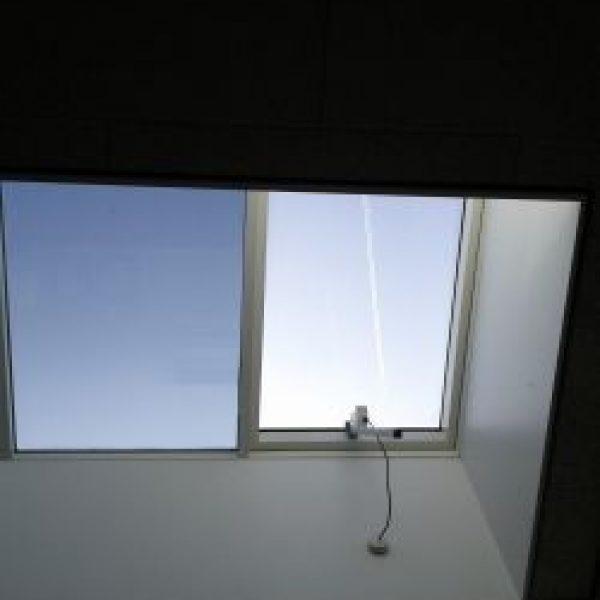 Solfilm i ovenlysvindue